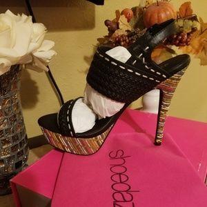 Braided Strappy Heels